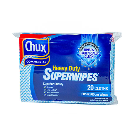 Chux® Superwipes® HD Blue 60x60cm Pk20