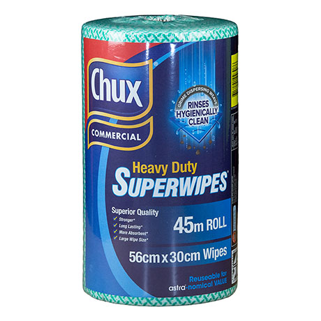 Chux® Superwipes® HD Roll Green 45m