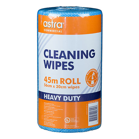 Astra® Cleaning Wipes HD Roll Blue 45m