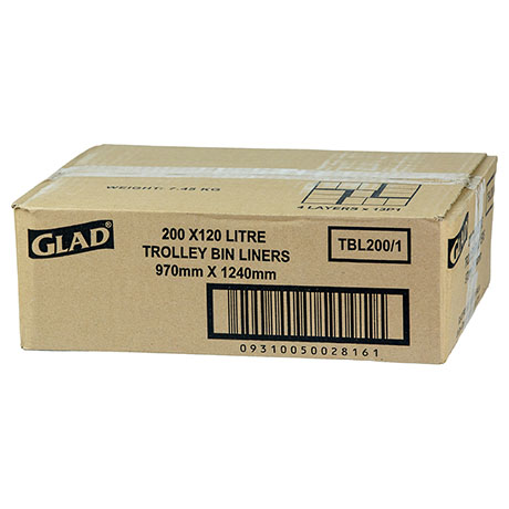 Glad® Trolley Bin Liners 120L Box200