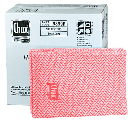 Chux® Superwipes® HD Red 60x60cm Box100