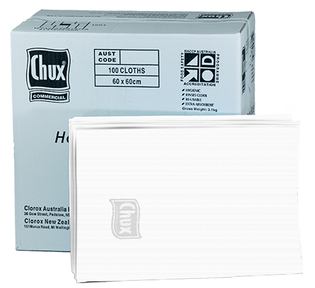 Chux® Superwipes® HD White 60x60cm Box100